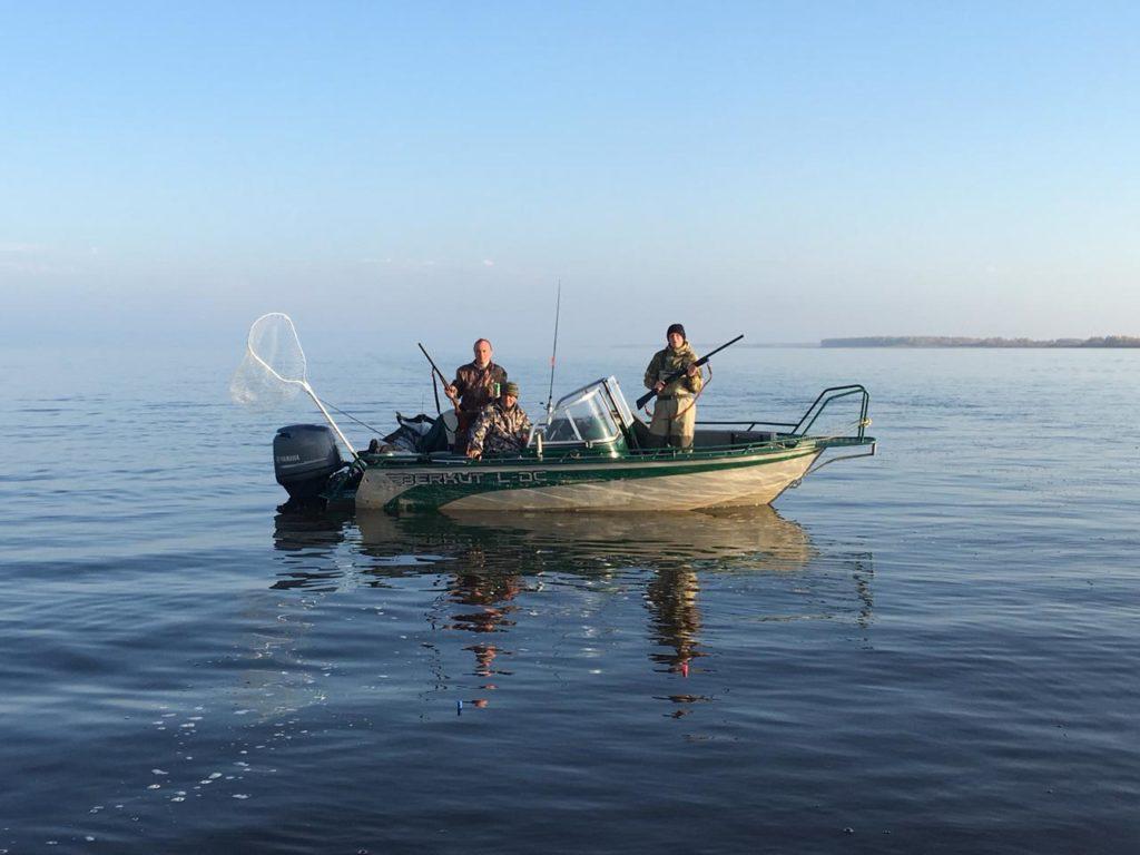 и охота с катера рыболовная база Черкасово рыбинское водохранилище 1024x768 - ОХОТА