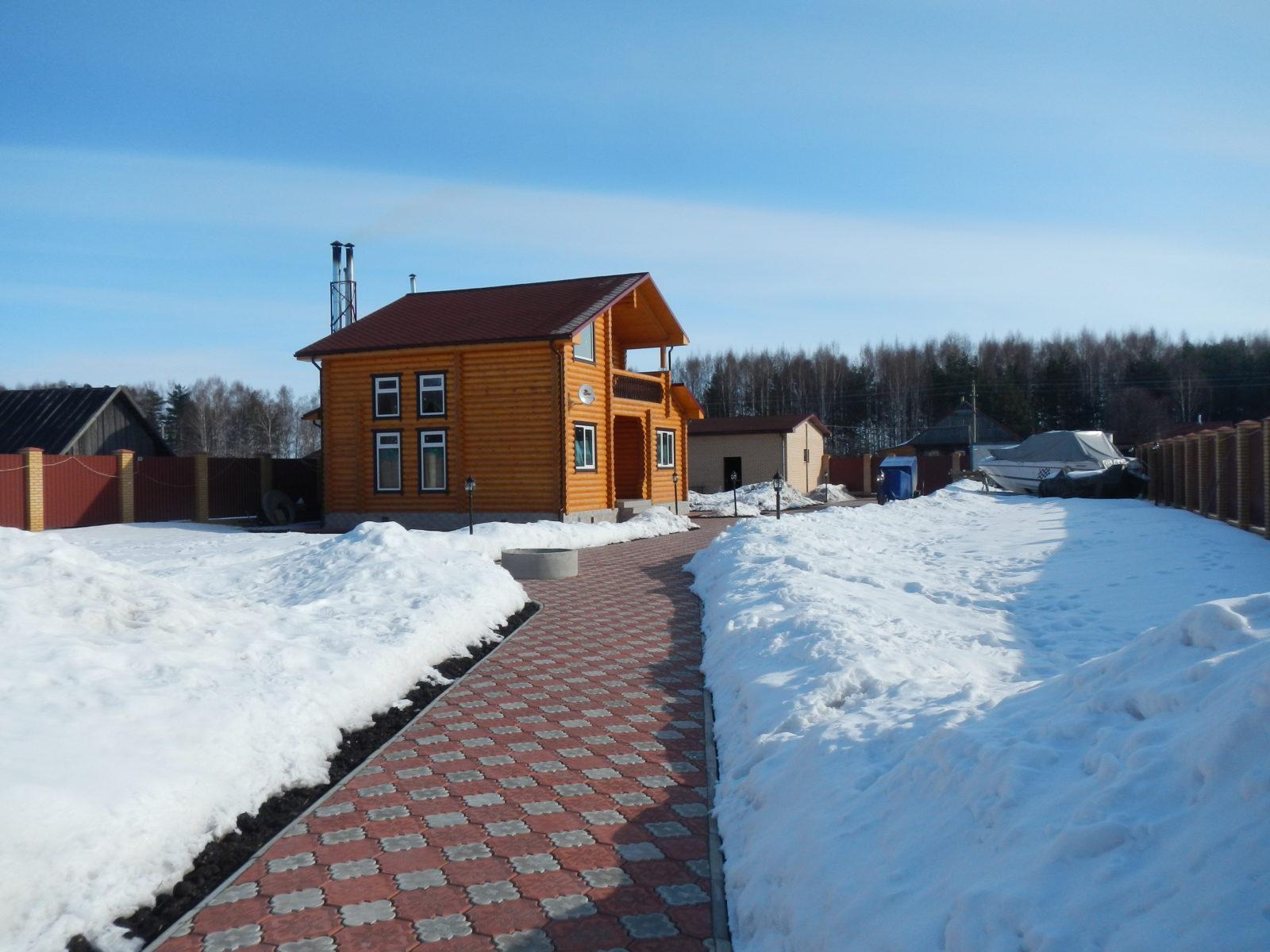 рыболовная база Черкасово рыбинское водохранилище 2 - Гостиница зимой