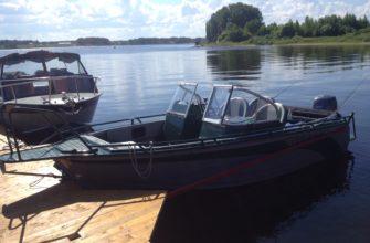 катера у причала рыбалка охота и отдых рыболовная база Черкасово рыбинское водохранилище 3 335x220 - наши катера у причала