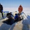 под лёд зимняя рыбалка и отдых рыболовная база Черкасово рыбинское водохранилище 6 100x100 - наш катер